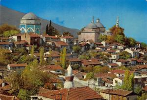 Turkey Yesil Bursa The green Turbe and Mosque Postcard Panorama Postcard