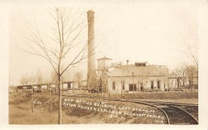 LP85  Pleasant Prairie Wisconsin Postcard RP Powder Explosion Bldg left Standing