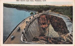 Devil's Gate Dam, Pasadena, California, Early Postcard, Unused
