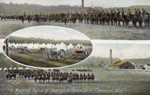 EDMONTON , Alberta , Canada , 00-10s ; Mounted Police at Inaugural Ceremonies
