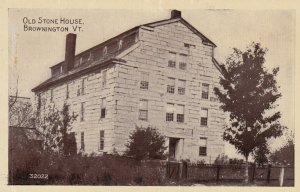 BROWNINGTON , Vermont , 1900-10s ; Old Stone House