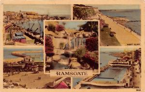 RAMSGATE KENT UK~MULTI-PHOTO POSTCARD 1957