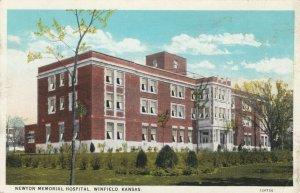 WINFIELD , Kansas, 1910-20s; Newton Memorial Hospital