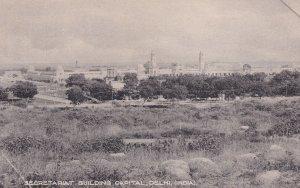 Secretariat Building Delhi India Landscape View Old Postcard