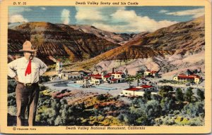 Postcard CA California Death Valley Scotty & His Castle National Monument 1949