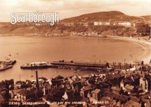 NEW Vintage Repro Scarborough Yorkshire Postcard, South Bay and Harbour SC13