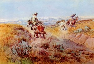 Western (US) -  When Cows Were Wild  Artist:  Charles Marion Russell       ...