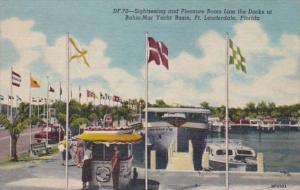 Florida Fort Lauderdale Bahia Mar Yacht Basin Sightseeing & Pleasure Boats 19...