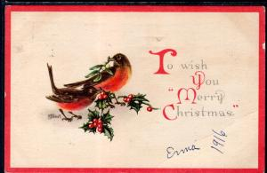 Merry Christmas Birds BIN
