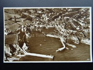 Cornwall MEVAGISSEY Harbour & Town AERIAL VIEW - Old RP Postcard