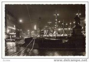 RP HEILBRONN a. N., Germany- Allee mit Robert Mayer-Denkmal, Germany 1940s Night