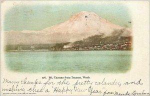Old Postcard from Mt Tacoma Tacoma Wash