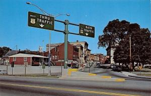 Bath Maine~Carleton Bridge Entrance~Highway Traffic Signs~Coffee Shop~1960s PC