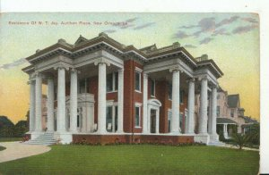 America Postcard - Residence of W.T.Jay, Audibon Place, New Orleans - Ref 16501A
