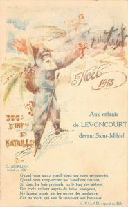 LP11   Santa Claus  Christmas Vintage Postcard  Sold for WWI War Orphans