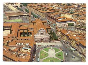 Italy Firenze Piazza Santa Maria Novella Aerial Vue Florence