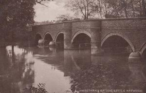 Weetmans Bridge Little Haywood Staffordshire Staffs Old Antique Postcard
