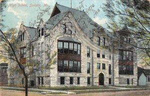 High School, Sedalia, Missouri 1910 Vintage Postcard