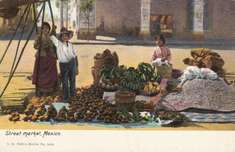 Mexico Vegetable & Fruits Typical Street Market sk1394a