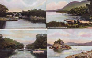 Killarney Tore Mountains Colleen Bawn Rock Boats 4x Old Postcard s