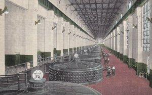KEOKUK, Iowa, 1930-1940s; Interior Of Power House, Generators