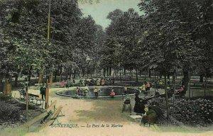 France Dunkerque Le Parc de la Marine Park Promenade Postcard