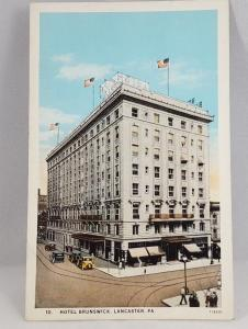 Vintage Postcard Hotel Brunswick, Lancaster PA