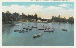 BREVARD, North Carolina, 1910-20s; A Part of the Flotilla, Camp Sapphire