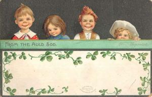 St Patricks Day Children Auld Sod Clapsaddle Antique Postcard K72489