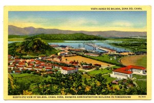Panama - Canal Zone. Balboa, Bird's Eye View