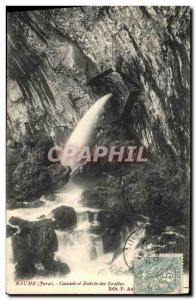 Old Postcard Baume and Cascade Caverns of Entree