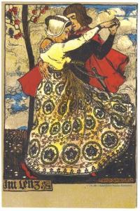 Ferd Spiegel Hubert Kohler Munchen Bluthenstr. 13 Postcard