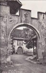 Schweiz Stein am Rhine Eingang zum Kloster St Georgen