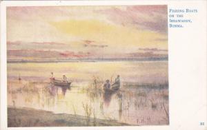 Fishing Boats on the Irrawaddy , BURMA , 00-10s