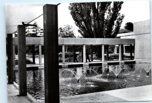 The University of York UK c1967 Water Court Derwent College B&W Postcard A48