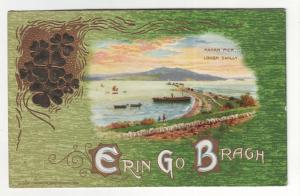 P481 JLs 1914 st patricks erin go bragh fahan pier boats etc