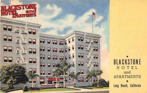 Long Beach California Blackstone Hotel and Apartments linen antique pc Z23143