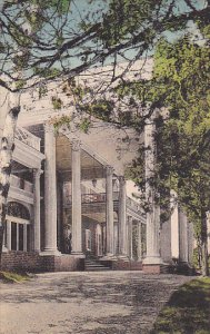 Virginia Luray Entrance To The Mimslyn Hotel Of Distinction Showing Beautiful...