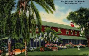Florida Tarpon Springs Hotel Villa Plumosa Curteich