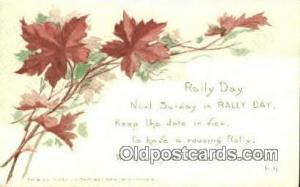 Rally Day, Days Postcard Postcards