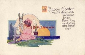 A HAPPY EASTER - May it shine with radiance bright, Days of joy are dawning