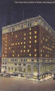 Pennsylvania Harrisburg The Penn Harris Hotel At Night