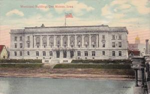 Iowa Des Moines Municipal Building 1914