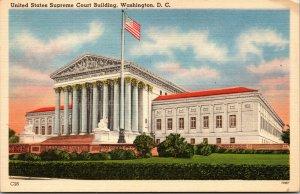 Vtg 1930s United States Supreme Court Building Washington DC Unused Postcard