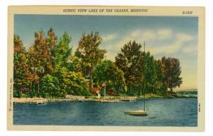 Scenic View Lake of the Ozarks, Missouri, unused Curteich linen Postcard