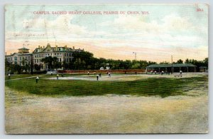 Prairie du Chien WI~Sacred Heart College Campus~Baseball Game~Diamond~1907 PC