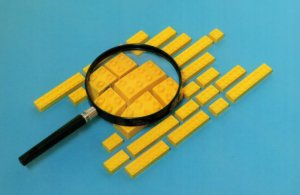 Magnifying Glass Lens Bricks Childrens Lego Postcard