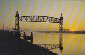 Massacahusetts Cape Cod Buzzards Bay Cape Cod Canal Bridges Looking East At S...