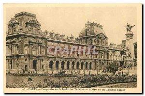 Old Postcard Paris Perspective on the Jardin des Tuileries