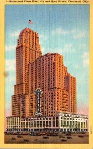 Ohio Cincinnati Netherland Plaza Hotel 5th and Race Streets 1948 Curteich